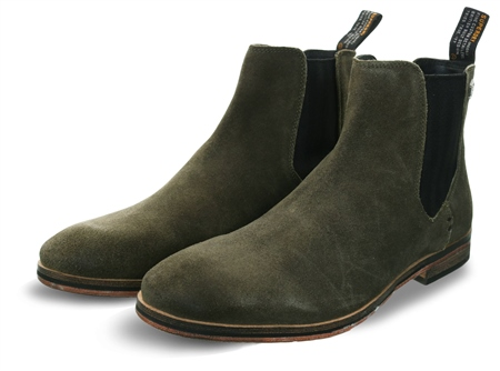 Superdry Deep Moss Suede Meteora Chelsea Boots  - Click to view a larger image