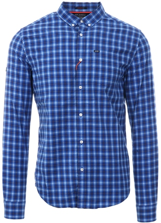 Superdry Blue Check Ultimate University Oxford Shirt  - Click to view a larger image