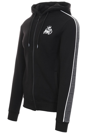 Kings Will Dream Black Carrick Full Zip Hooded Top  - Click to view a larger image