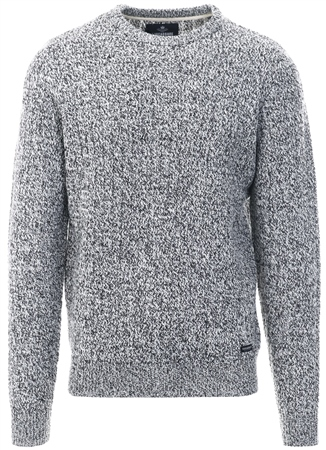 Threadbare Grey Salix Cable Knit Jumper  - Click to view a larger image