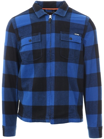 Superdry Royal Rookie Harrington Zip Up Shirt  - Click to view a larger image