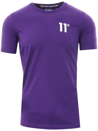 11degrees Purple Muscle Fit T-Shirt  - Click to view a larger image