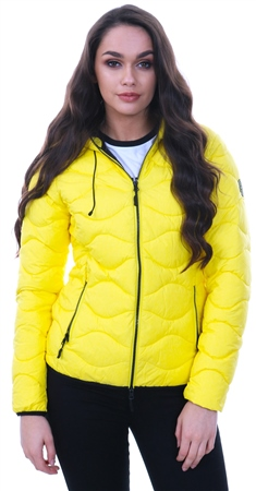 Superdry Yellow Astrae Quilt Padded Jacket  - Click to view a larger image