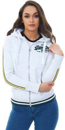 Superdry Ice Marl Entry Zip Up Hoodie  - Click to view a larger image