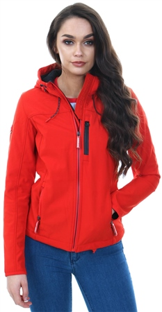 Superdry Fire Red Black Hooded Windtrekker Jacket  - Click to view a larger image