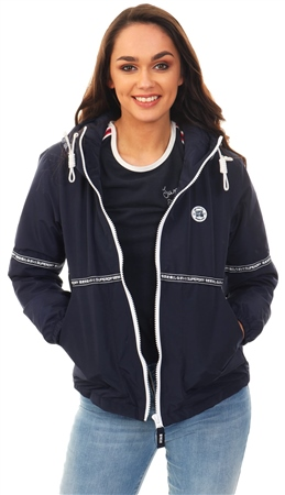 Superdry Navy Alaska Zip Up Long Sleeve Jacket  - Click to view a larger image