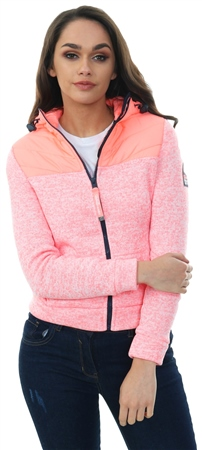 Superdry Coral Storm Half Hybrid Zip Hoodie  - Click to view a larger image