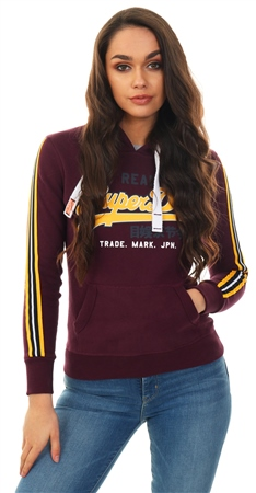 Superdry Fig Vintage Logo Applique Hoodie  - Click to view a larger image