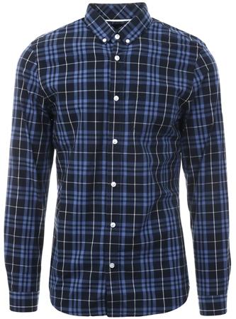 65e5d12da6bf67 Threadbare Navy / Blue Check Long Sleeve Shirt     Shop the latest fashion  online @ DV8