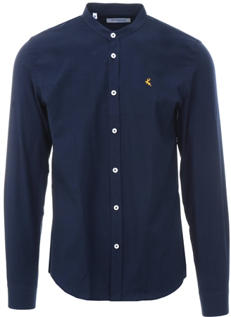 Ottomoda Navy Long Sleeve Button Down Shirt  - Click to view a larger image