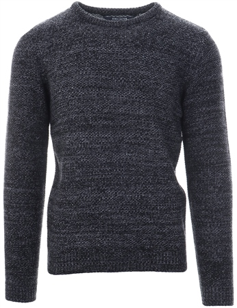 Kensington Black Cable Knit Long Sleeve Sweater  - Click to view a larger image