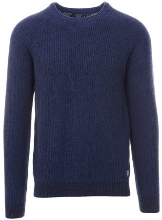 Broken Standard Marazine Blue Donald Crew Neck Sweater  - Click to view a larger image