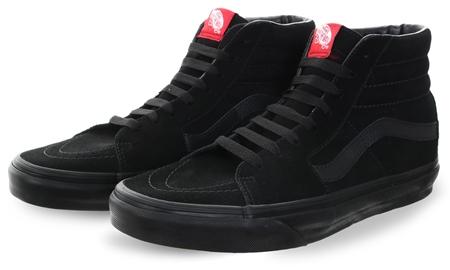 7d8481f5716 Vans Black/Black Sk8-Hi Old Skool Shoes | | Shop the latest fashion online  @ DV8