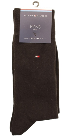 Hilfiger Denim Black Plain Embroidery Logo Sock  - Click to view a larger image