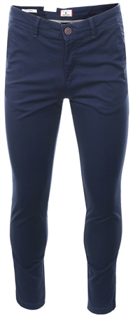 Jack & Jones Navy Marco Bowie Slim Fit Chinos  - Click to view a larger image