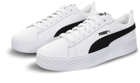 Puma White Smash V2 Trainers  - Click to view a larger image