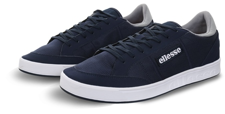 Ellesse Navy LS-80 Panel Lace Up Trainer  - Click to view a larger image