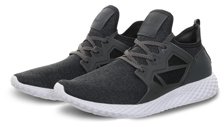 Certified Charcoal Mesh Panel Lace Up Trainer  - Click to view a larger image