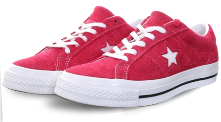 Converse Pink Pop / White One Star Trainer  - Click to view a larger image