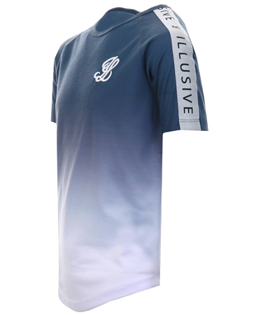 Illusive Navy Taped Fade Short Sleeve T-Shirt  - Click to view a larger image