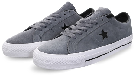 Converse Grey One Star Leather Pro Trainers  - Click to view a larger image