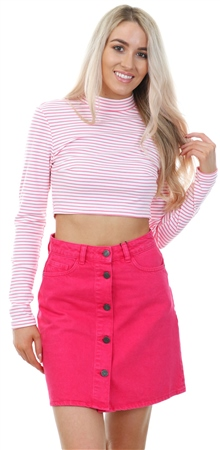 Noisy May Love Potion Sunny Mini Denim Skirt  - Click to view a larger image