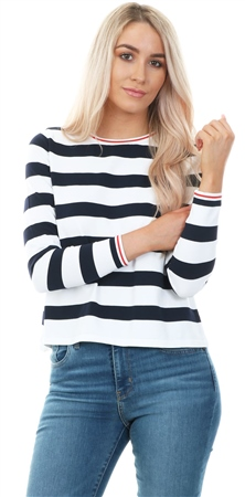 Only Could Dancer Striped Long Sleeve Top  - Click to view a larger image
