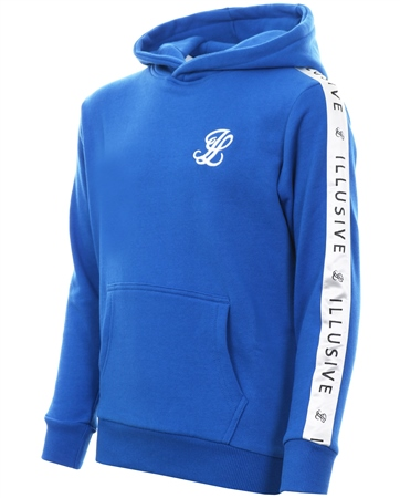 Illusive London Cobalt Blue Overhead Taped Hoodie  - Click to view a larger image