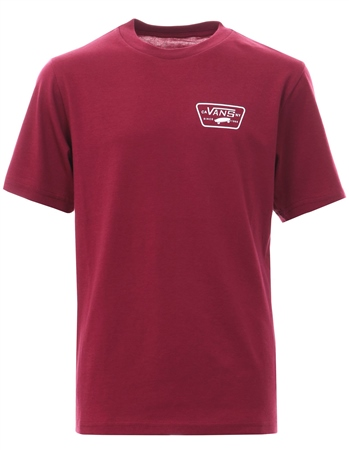 Vans Rumba Red Classic Full Patch Logo Back T-Shirt  - Click to view a larger image