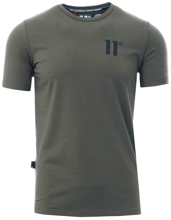 11degrees Khaki Core Muscle Short Sleeve T-Shirt  - Click to view a larger image
