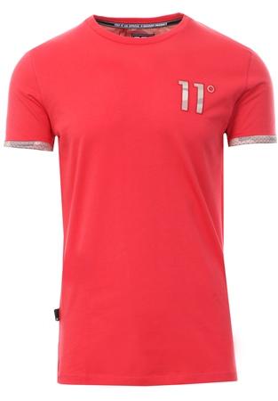 bd325466e 11degrees Red/Camo Mesh Print Logo T-Shirt | | Shop the latest ...