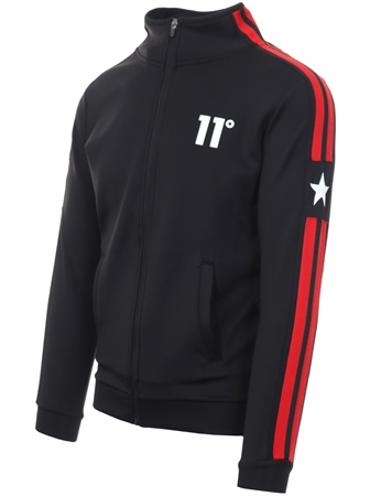 11degrees Black Southpaw Track Zip Up Jacket  - Click to view a larger image