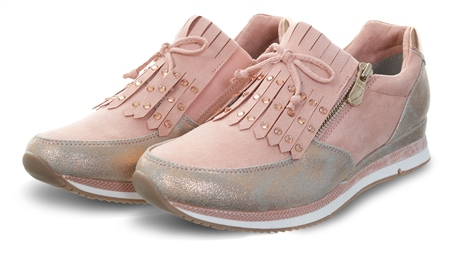 Marco Tozz Rose Comb Fringe Detail Slip On Trainer  - Click to view a larger image