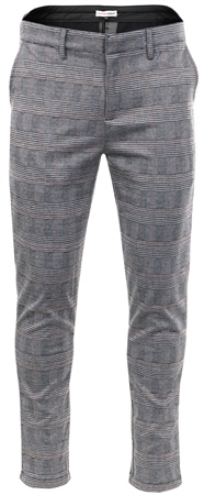 Missi Lond Grey /Brown Checked Print Trouser  - Click to view a larger image