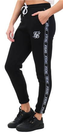 Siksilk Black / White Original Tape Joggers  - Click to view a larger image