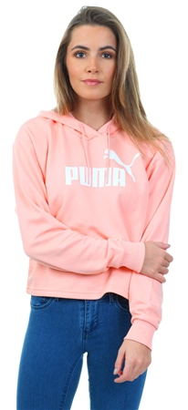 Puma Peach Bud Essential Cropped Hoody  - Click to view a larger image