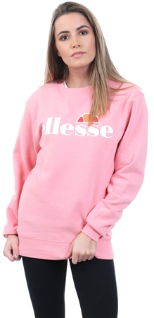 Ellesse Pink Agata Crew Long Sleeve Sweat  - Click to view a larger image