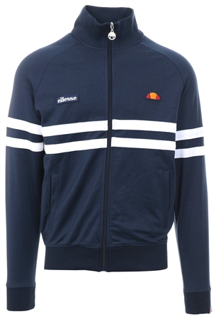 Ellesse Navy Rimini Track Zip Up Long Sleeve Top  - Click to view a larger image