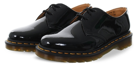 Dr Martens Black 1461 Patent Lamper Lace Up Shoe  - Click to view a larger image
