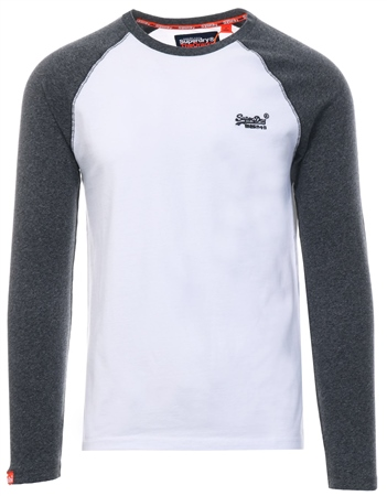 5fa5e4bec90ebb Superdry Optic Orange Label Baseball T-Shirt | | Shop the latest fashion  online @ DV8