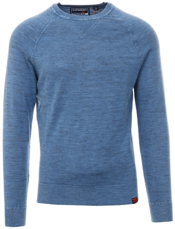 Superdry Washed Blue Garment Dye L.A. Crew Jumper  - Click to view a larger image