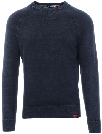 Superdry Washed Navy Garment Dye L.A. Crew Jumper  - Click to view a larger image