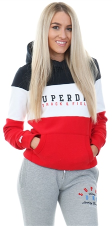 Superdry Red Track & Field Pullover Printed Hoodie  - Click to view a larger image