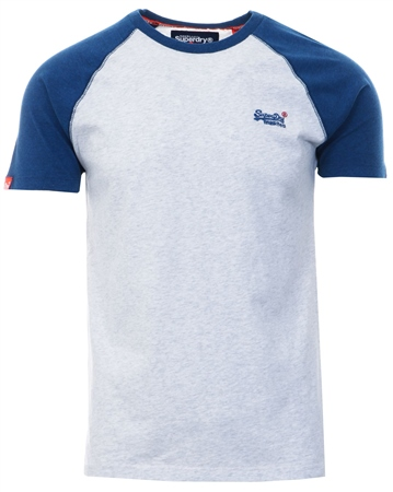 Superdry Ice Marl Orange Label Baseball T-Shirt  - Click to view a larger image