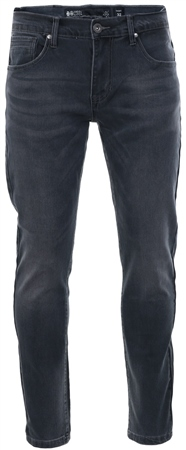 Crosshatch Grey Wash Emaciateed Distressed Jeans  - Click to view a larger image