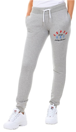 Superdry Pebble Grey Marl Applique Joggers  - Click to view a larger image