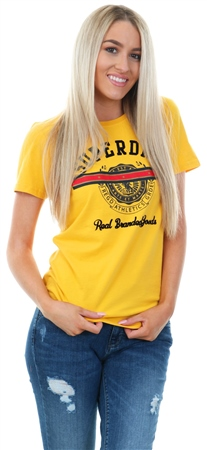 Superdry Yellow Heritage Crest Entry T-Shirt  - Click to view a larger image