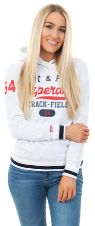 Superdry Ice Marl Track & Field Printed Hoodie  - Click to view a larger image