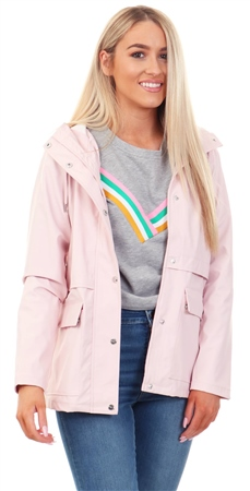 Only Strawberry Cream / Pink Solid Rain Jacket  - Click to view a larger image