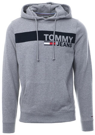 Hilfiger Denim Grey Heather Essential Graphic Hoody  - Click to view a larger image